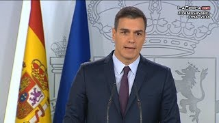 Pedro Sánchez anuncia elecciones generales para el 28 de abril de 2019