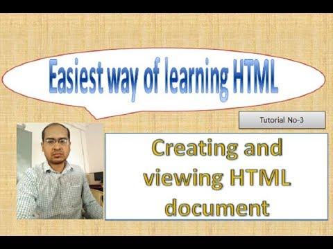 Creating, Saving And Running HTML Document, Tutorial#3