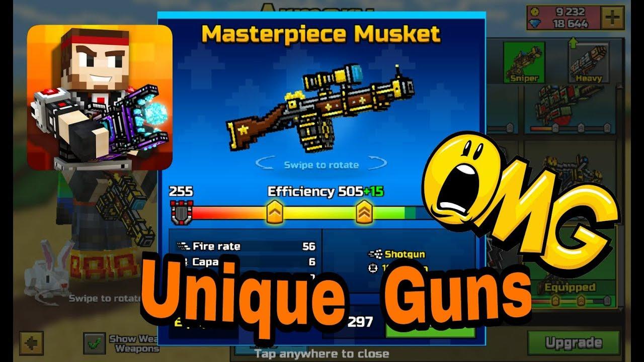 top 4 most unique guns in pixel gun 3d pg3d youtube