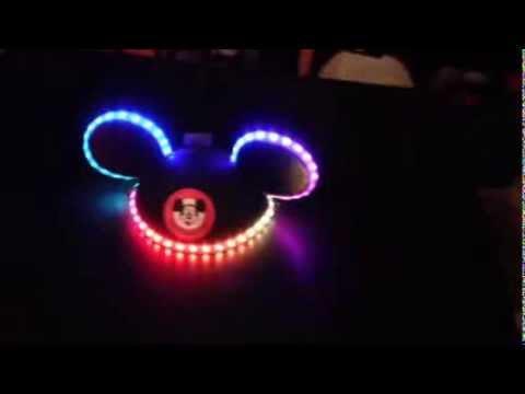 3deee777e Adafruit NeoPixels on Mickey Mouse ears! - YouTube