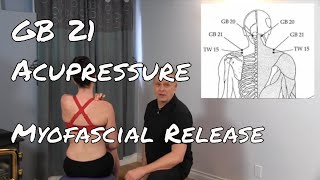 Self Myofascial  release of GB21 - Acupuncture Point