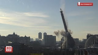 Момент взрыва телебашни в Екатеринбурге