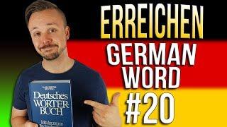 Learn German A.1 🇩🇪 Word Of The Day: erreichen | Episode 20 | Get Germanized