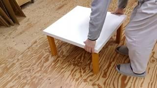 机の天板リフォーム方法、丸ごと被せて覆うメラミン化粧板天板 thumbnail