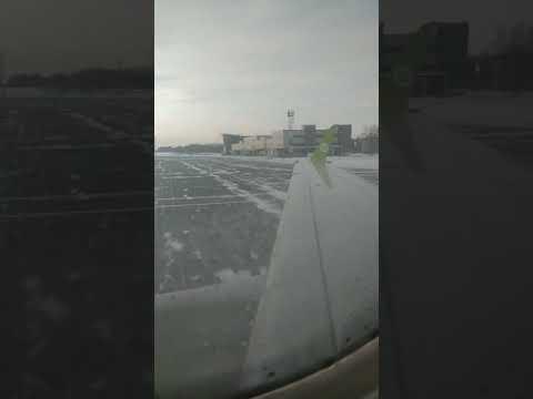 """Взлет из Томска в Новосибирск   Авиакомпания """"S7 Airlines"""""""