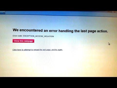 AOL Facebook EXCEPTION_ACCESS_VIOLATION Error Fix