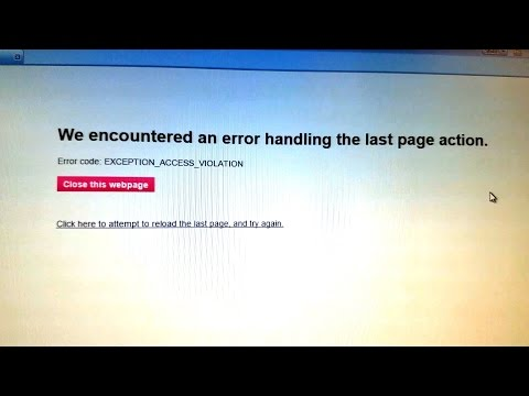 AOL Facebook EXCEPTION_ACCESS_VIOLATION Error Fix