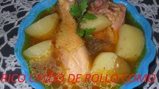 Rico Caldo De Pollo Estilo Oaxaca ( Los Angeles Cocinan )