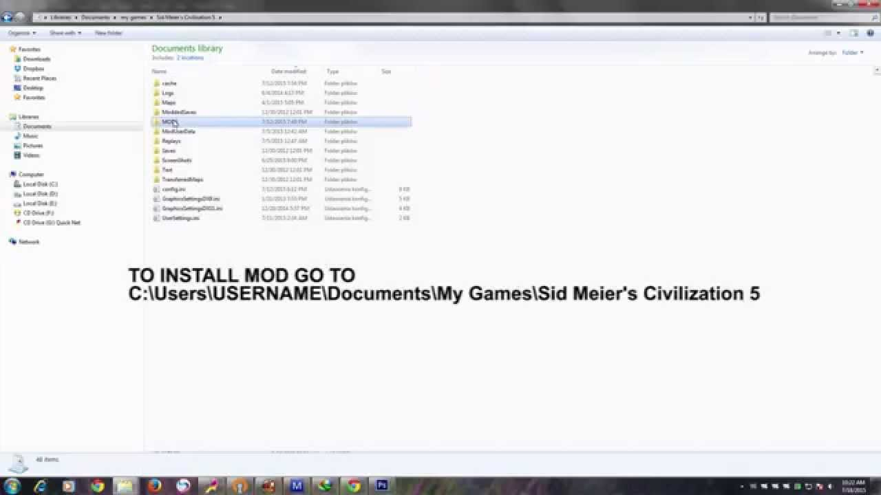 HOW TO INSTALL MODS AND FIX LAG CIVILIZATION V (WITHOUT STEAM)