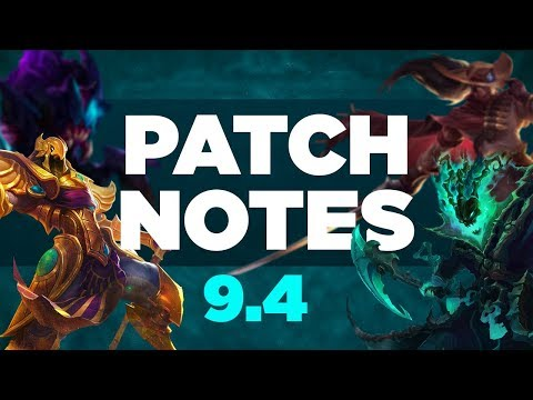 PATCH NOTES 9.4 - ANÁLISE COMPLETA!
