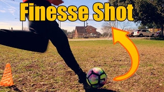 How to do a Finesse Shot in Soccer   Curve the Ball with Power
