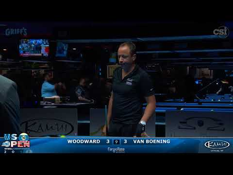 2017 US Open 10-Ball: Woodward vs Van Boening (2of2)