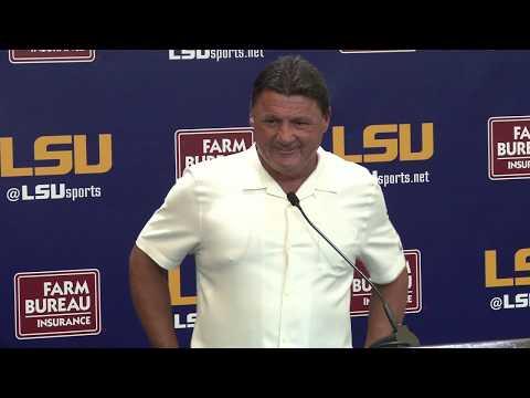 Ed Orgeron discusses quarterback decision & Miami preparations | FULL PRESSER 8.27.18