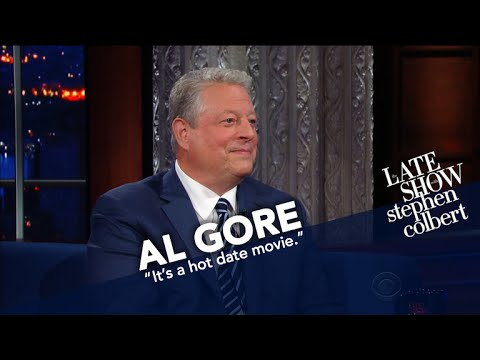 Colbert Asks Al Gore About Future Is There Hope Video - Underwear on a us map colbert show