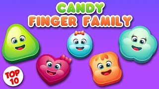 Candy Finger family Song Collection | Top 10 Finger Family Songs |  Daddy Finger Rhyme