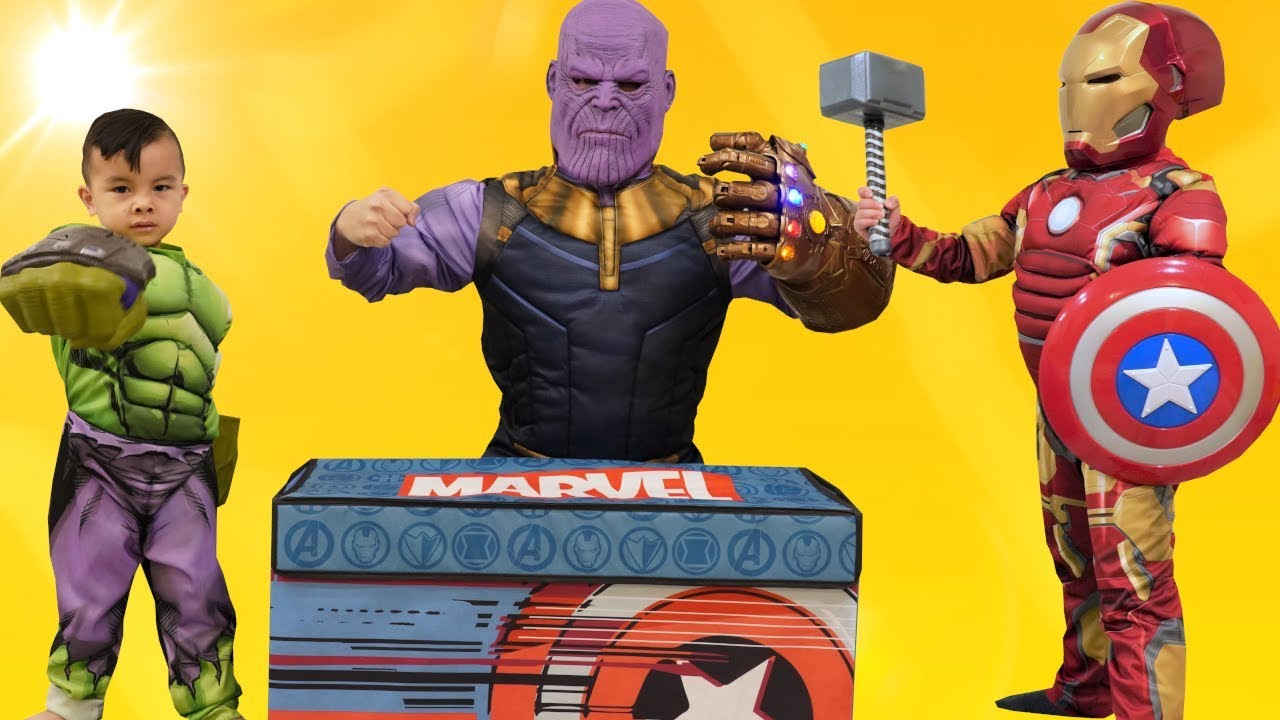 Thanos Steals Our Toy Box Avengers Fun With CKN Toys
