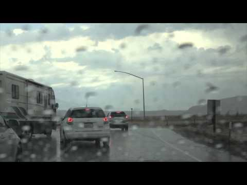 Flash Flood at Coso Junction Highway 395 Owens Valley California