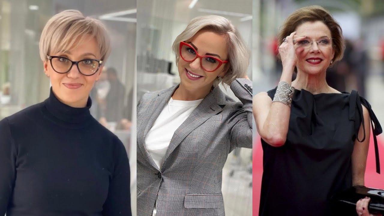 Стрижка под очки и форму лица. Часть 1. Правила макияжа под очки. Модные оправы 2021.