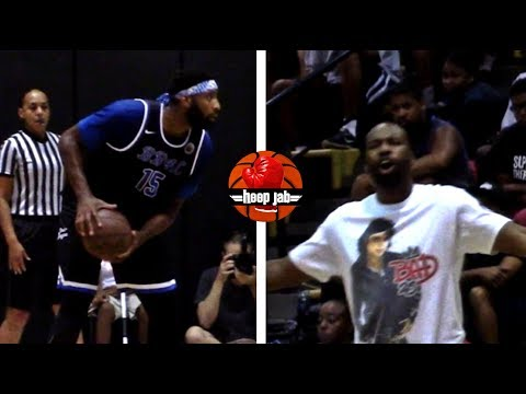 Andre Drummond BEAST Drew League Game 36 Pts 18 Rebounds! Coached By Baron Davis!