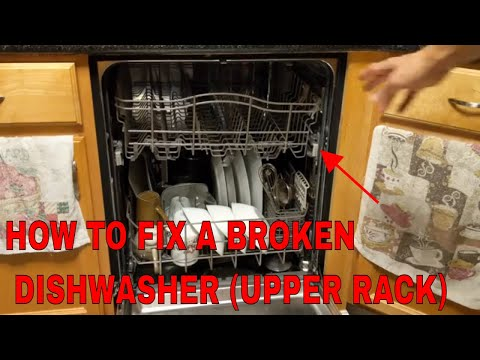 how to fix the top rack on a dishwasher kenmore elite