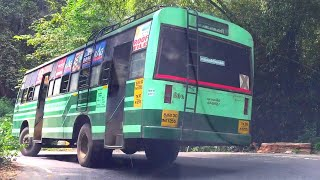 Overtaking Two TNSTC Buses On Steep Ghat Road Madurai To Kumily Bus