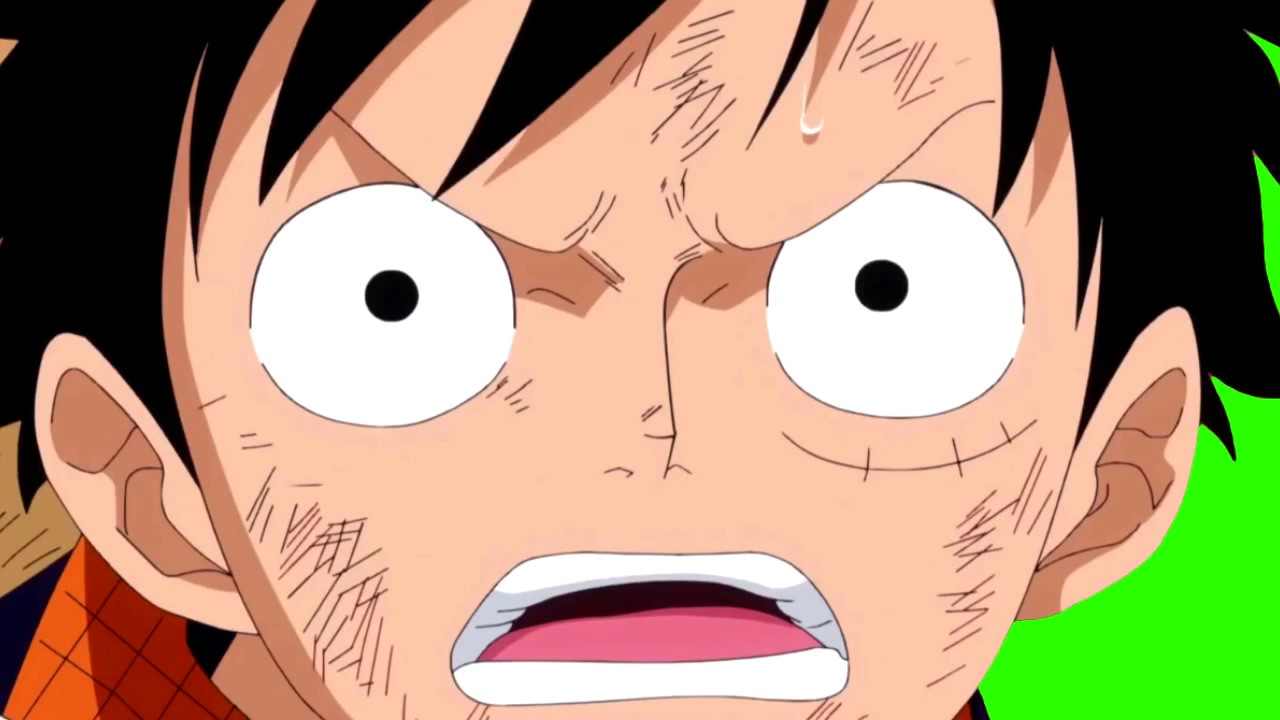 Monkey D Luffy One Piece Pack 1 Fond Vert