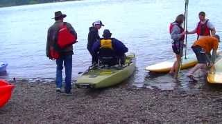 A Fat Guy uses his first paddleboat. Hilarity ensues.