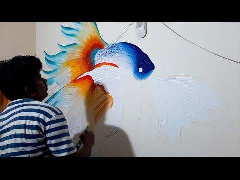 Easy & Simple  Mural Wall Art | Drywall art |Home Decor ideas