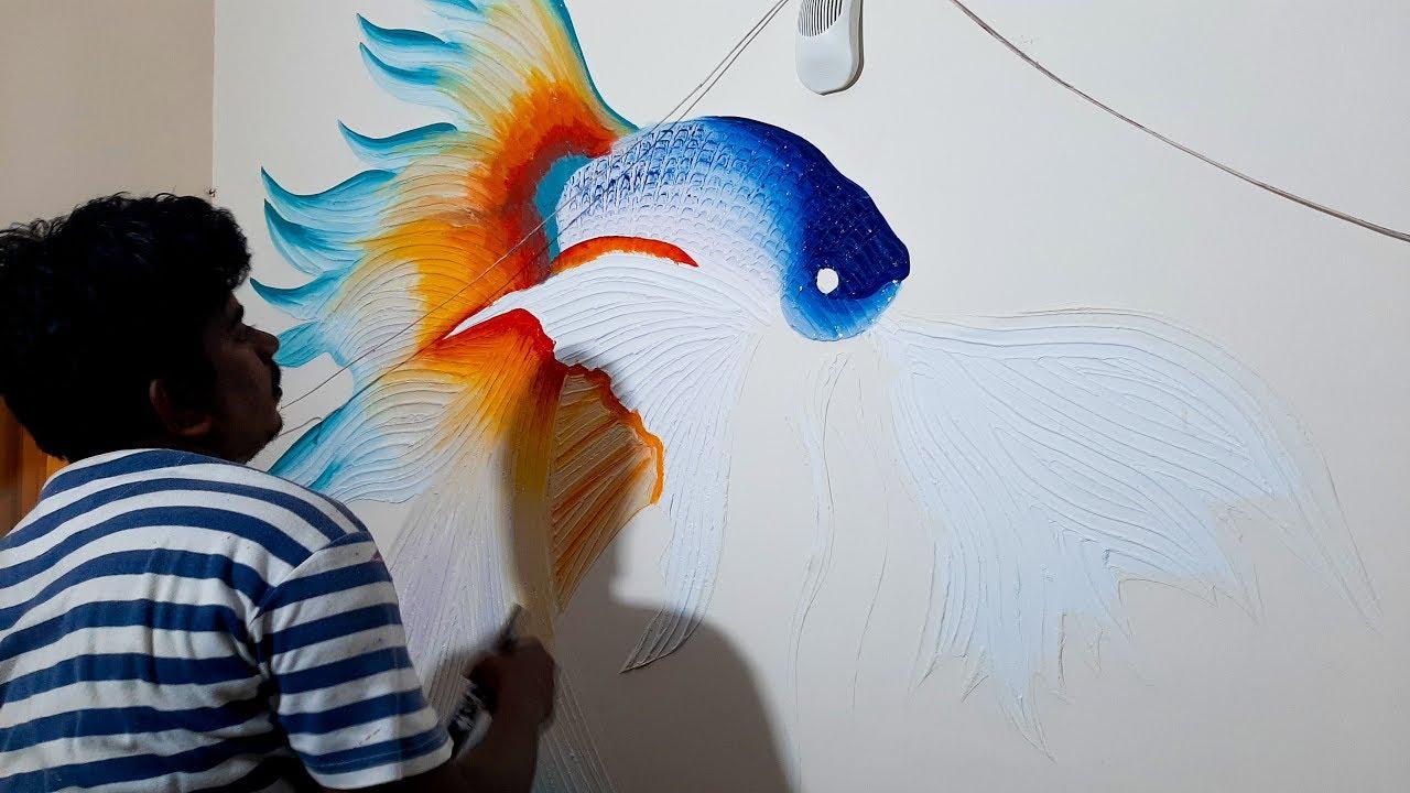 Easy Simple Mural Wall Art Drywall Art Home Decor Ideas Youtube