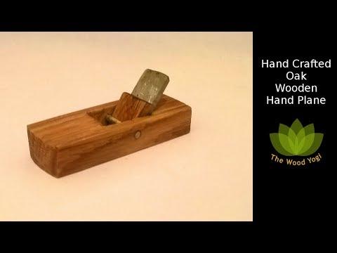 Handmade Oak Wooden Hand Plane - DIY Woodworking Hand Tool