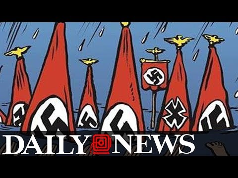 Charlie Hebdo cover depicts Harvey victims in Texas as neo Nazis