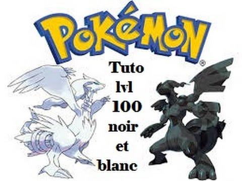 Pokemon tuto comment avoir pkmn lvl 100 noir et blanc (ou elevage)