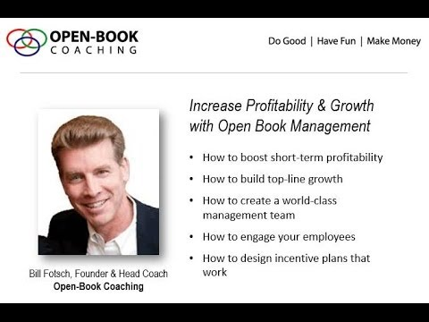 Webinar:  Increase Profitability and Growth with Open Book Management