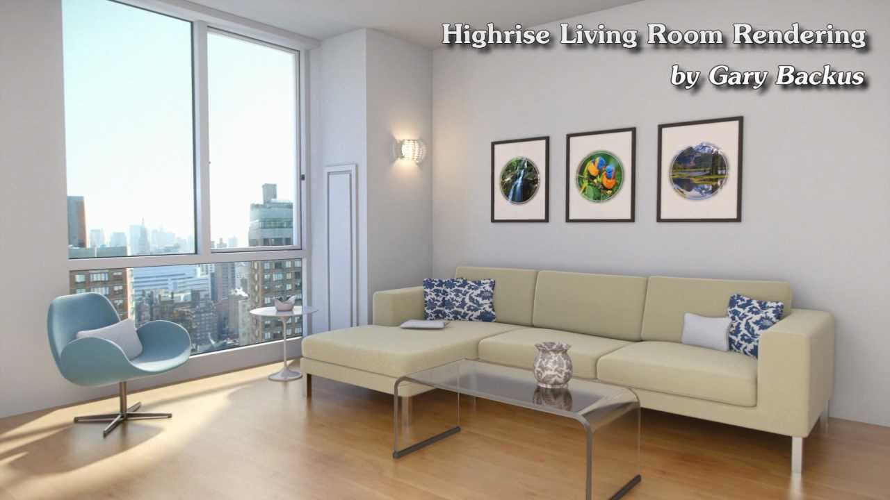 Highrise Living Room - Architectural Rendering - 1080p ...