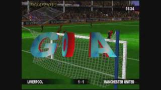Michael Owen's World League Soccer '99 (PS1) - Liverpool vs Manchester United.