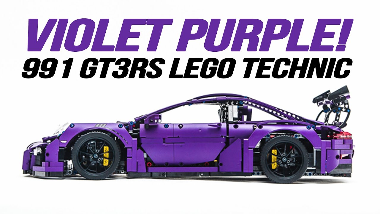 Porsche 911 991 Gt3rs Lego Technic In Custom Violet Purple