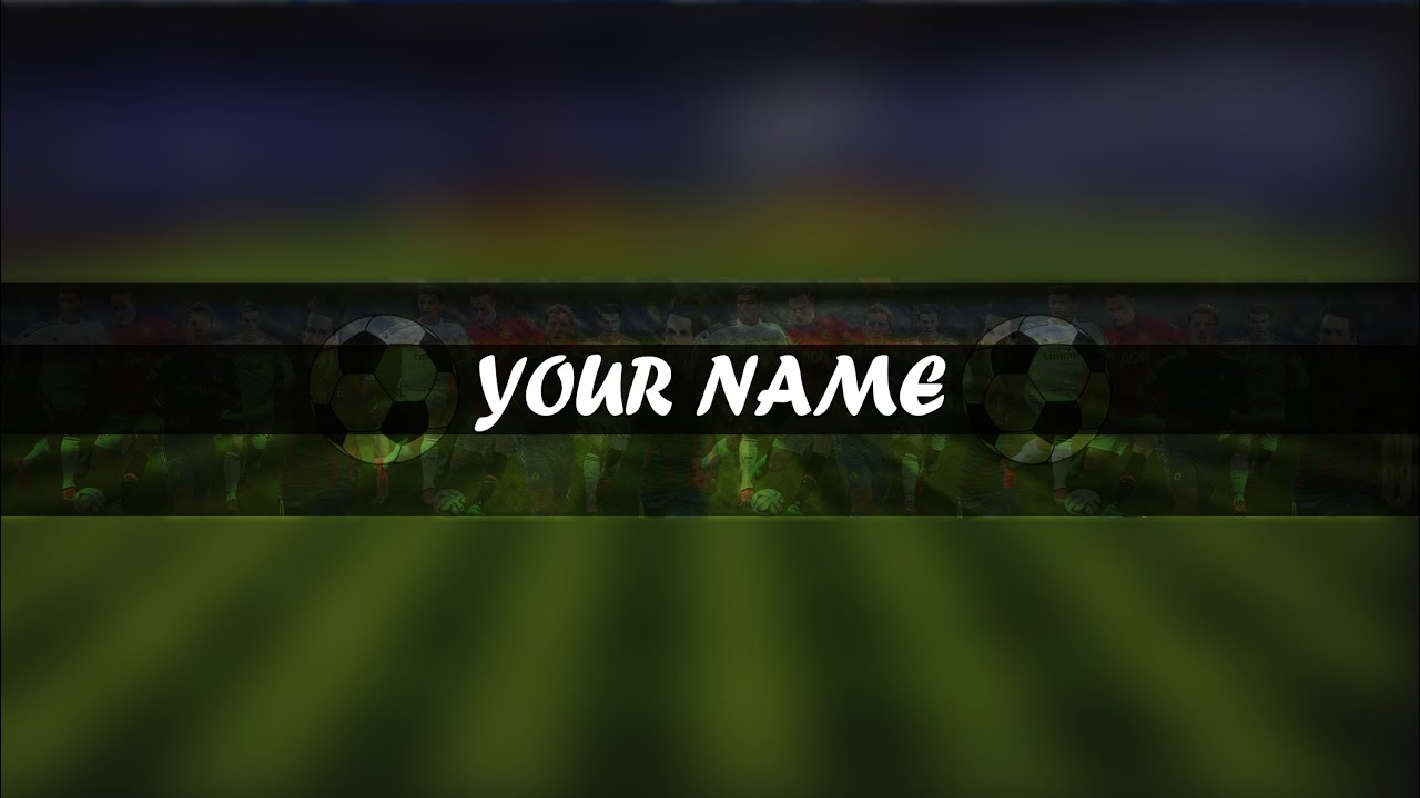 photoshop football soccer channel artbanner template youtube