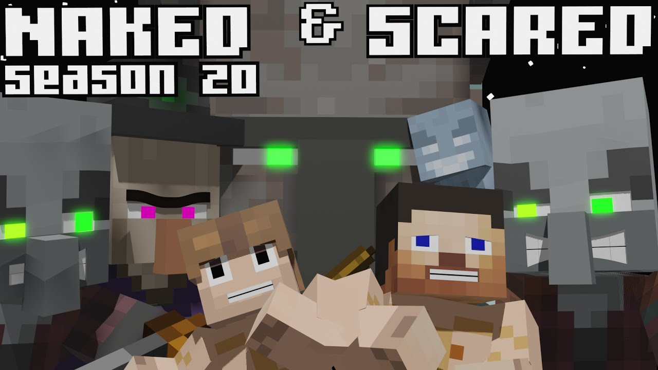 Naked & Scared: Minecraft Challenge in Ultra Hardcore Season 20 - Episode 14