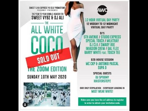ALL WHITE COCO - 5TH AVENUE aka Sweet Vybz meets CHAMPS & GIGGLES this Friday 29th January 2021