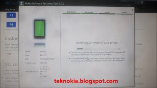 Re install firmware Nokia X2DS With Nokia Software Recovery Tool