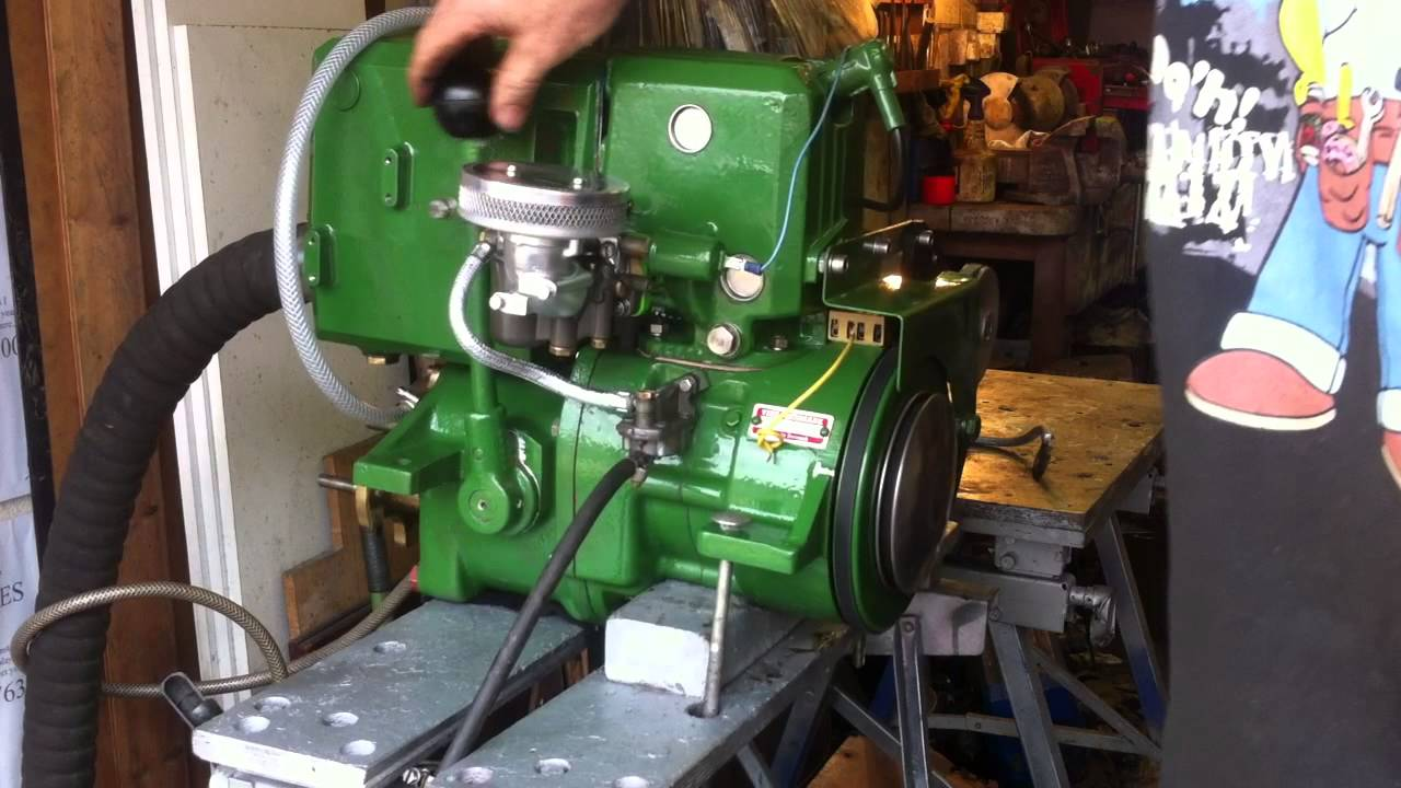 Vire 12 hp inboard marine engine, running test after concourse rebuild  YouTube
