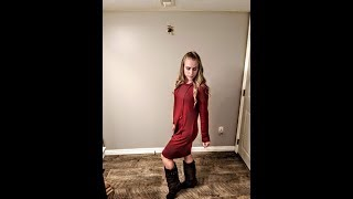 Huhot Hoodie Dress- Fashion Review- little red hoodie dress