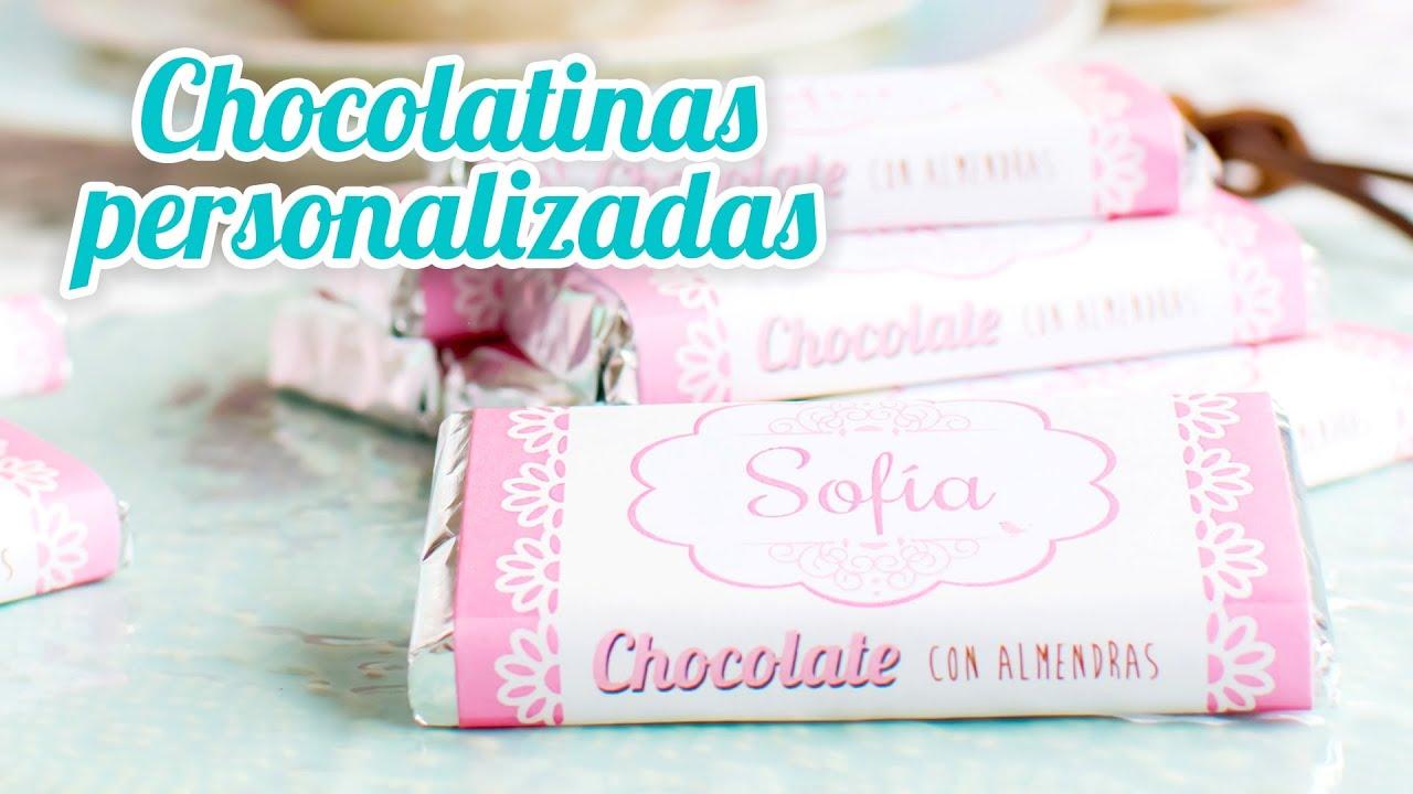 Chocolatinas personalizadas idea r pida 14 mesa dulce for Mesa dulce para baby shower