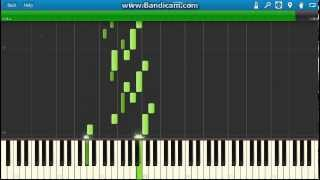 Johann Sebastian Bach - Bouree In E Minor piano. (Synthesia)