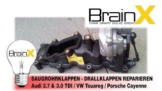 2.7 3.0 TDI Klappe löschen Ansaugkrümmer Saugrohrklappe 059129711 059129712