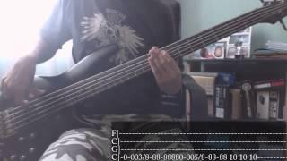 Disturbed Stricken Bass Cover Tab