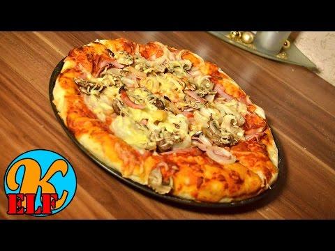 #173 Cheesy Crust Pizza mit Käserand | Schinken und Champignons | Kanal-ELF Rezepte