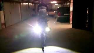 Линзованные LED фары на мотоцикле N1,N2 (MADE IN CHINA)