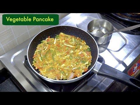 बिना अंडे का सेहतमंद आमलेट   Vegetable Pancake Recipe   Healthy Breakfast   KabitasKitchen