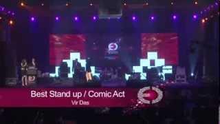 Vir Das -- Best Stand up Comic Act -- LIVE Quotient Awards 2013
